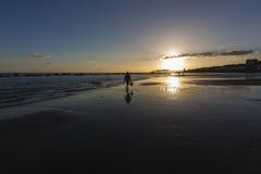 Hastings pir på solnedgången Royaltyfria Foton