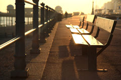 Hastings Promenade. A photo taken as the sun was setting on Hastings in Sussex, UK Stock Images