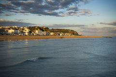 Hastings seafront in early evening sunshine Royalty Free Stock Images