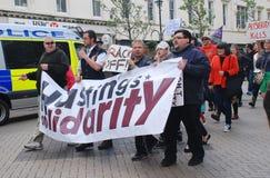 Hastings solidaritetmarsch, England Royaltyfri Bild