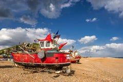 Hastings strand på sydkusten av Sussex arkivbild