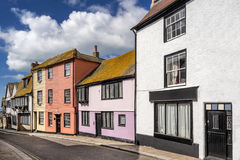 Hastings in Sussex. Typical street in Hastings in the county of Sussex royalty free stock images