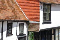 HASTINGS, UK - CZERWIEC 28, 2015: xvi wiek cembrującego obramiający i średniowieczny dom w Hastings Starym miasteczku Zdjęcia Royalty Free