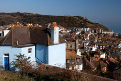 Hastings view house cityscape Royalty Free Stock Images