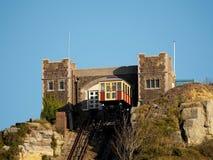 HASTINGS, wschód SUSSEX/UK - LISTOPAD 06: Wschodni wzgórze Funicular Raja Obraz Royalty Free