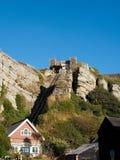 HASTINGS, wschód SUSSEX/UK - LISTOPAD 06: Wschodni wzgórze Funicular Raja Zdjęcia Stock