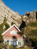 HASTINGS, wschód SUSSEX/UK - LISTOPAD 06: Wschodni wzgórze Funicular Raja Obrazy Royalty Free