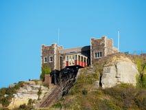 HASTINGS, wschód SUSSEX/UK - LISTOPAD 06: Wschodni wzgórze Funicular Raja Zdjęcia Royalty Free
