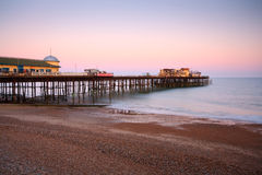 Hastins pier, East Sussex, UK. Pier in Hastings after fire in 2010, East Sussex, UK Stock Photos