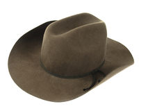 Hat. Cowboy hat isolated on white background Royalty Free Stock Photography