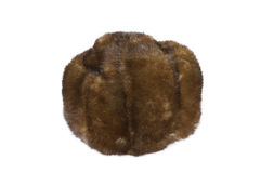 Hat. Old brown hat isolated on a white background Royalty Free Stock Image