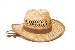 Hat. Straw hat isolated on white background royalty free stock photos