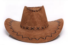The Hat. It shows the mexican hat, brown on white background royalty free stock photo