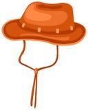 Hat. Illustration of isolated cartoon hat on white background Stock Photography