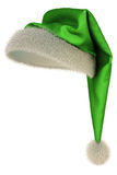 Hat. Green Santa Claus hat on white background including clipping path Royalty Free Stock Photo