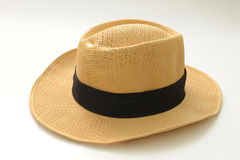 Hat. Brown colour hat isolated on white Royalty Free Stock Image