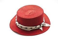 Hat. On white black ground Stock Photos