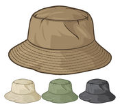 Hat. Bucket hat collection, bucket hat set Stock Photos