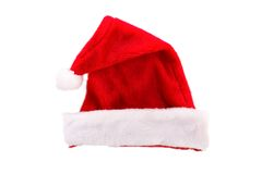 Hat. Red santa hat on white background Stock Images