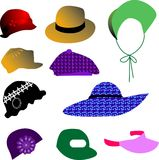 Hat. Vector illustration for a variety of hat in style Royalty Free Stock Images