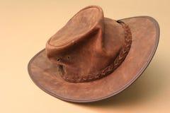 Hat. Australian leather hat royalty free stock image