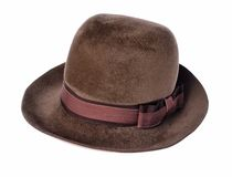 Hat. Studio isolated photo is showing a hat Royalty Free Stock Image