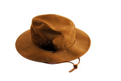 Hat. Dark heavy hat with wide brim Royalty Free Stock Image