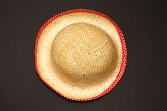 Hat. With red ribbon on the black Royalty Free Stock Images