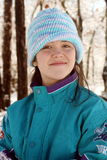 Teen in beanie hat Stock Images