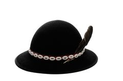 Hat. Traditional highland hat isolated on the white background Royalty Free Stock Image