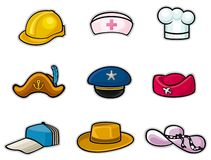 Hat. Icon set.created by Adobe Illustrator CS,eps-8 format Stock Photo