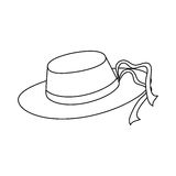 Hat accessory icon Royalty Free Stock Images