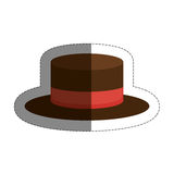 Hat accessory icon Royalty Free Stock Photos