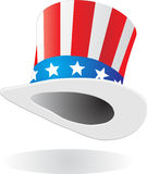 Hat with american flag theme Stock Images