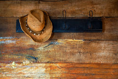 Hat And Wood Royalty Free Stock Photo