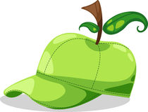 Hat apple fantasy party vector. Hat apple fantasy party isolated illustration vector Royalty Free Stock Images