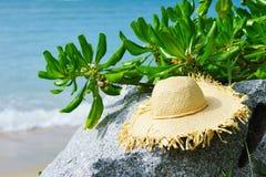 Hat on a beach Stock Photos