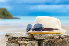 Hat on a beach Stock Image