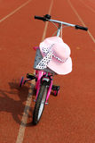 Hat and bicycle Stock Photos