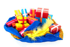 Hat of black Pete with many presents Royalty Free Stock Photo