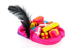 Hat of black Pete with many presents Royalty Free Stock Images