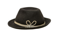 Hat. Black vintage hat on a white background Stock Photos