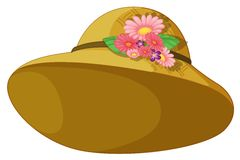 A hat with blooming flowers Royalty Free Stock Photos