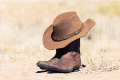 Hat and boots Stock Photos