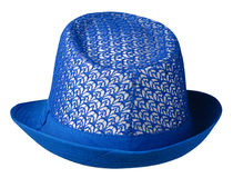Hat with a brim .hat isolated on white background .j blue hat royalty free stock photography