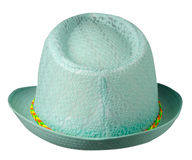 Hat with a brim .hat isolated on white background .tirquoise ha royalty free stock photos