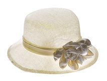 Hat with a brim isolated on white. Background stock images