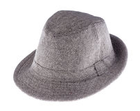 Hat with a brim isolated on white. Background stock photo