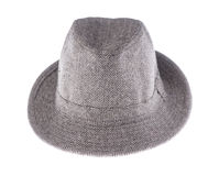Hat with a brim isolated on white. Background royalty free stock images