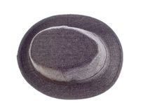 Hat with a brim isolated on white. Background stock photos